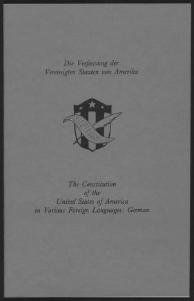 Die Verfassung der Vereinigten Staaten von Amerika.