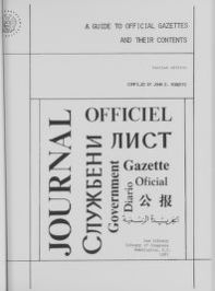 A Guide to Official Gazettes and Their Contents.