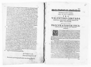 Brief on behalf of Valentín Courtada versus the General Procurator of the Royal Curiae concerning the crime of homicide committed against Juan Vilata. [Ca.XVII Century].
