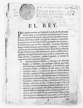 Royal Order of April 10, 1701 concerning the penalties to be imposed for tax fraud in the tobacco industry.