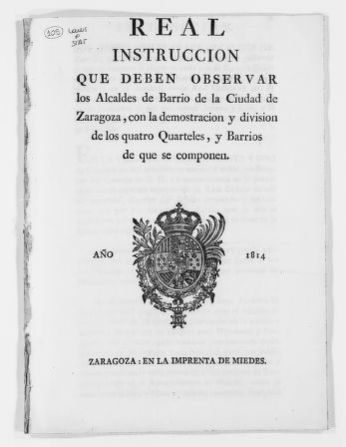 Royal Order of September 19, 1768 regulating the election and jurisdiction of local magistrates in the city of Madrid.  It also contains regulations applicable to the local judges in family matters.
