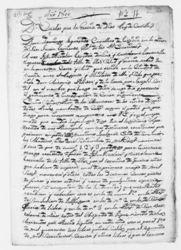 Royal Order ordering payment of certain annuities to two residents of the village of Olot for the period of four years.  [Ca. 1800]. [Manuscript document].