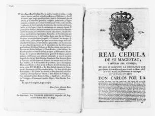 Royal Order of January 16, 1772, issued by King Carlos III, regulates hunting and fishing.