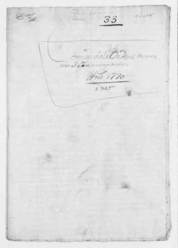 Royal Order of April 6, 1770 concerning collection of taxes. [Manuscript document].