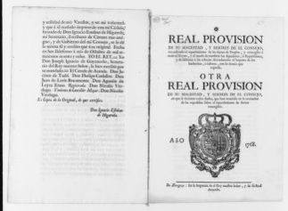 Royal Order of April 11, 1768 issued by King Carlos III, concerning municipal land reform.