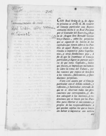 Royal Order of August 3, 1780 reducing the amount to be paid for annuities by the Kingdom of Aragón.