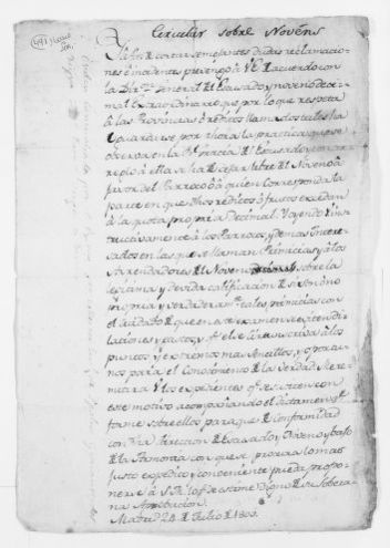 Statement of August 10, 1805 concerning collection of taxes from the Church.