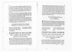Legal opinion by Father Pedro de Ojeda, head of the religious order of the Compañía de Jesús, and Father Francisco Franco of the same order, concerning dowry clause executed in the articles of marriage between the Count of Aranda and his deceased wife, the Countess Luisa Manrique y Padilla.  [April 15, 1647].