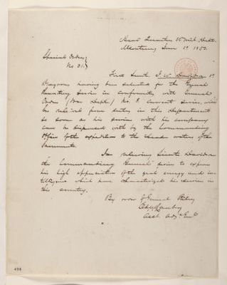 Abraham Lincoln papers: Series 1. General Correspondence. 1833-1916: Bennet Riley, Thursday, January 10, 1850 (Special Order No. 31Relieving J. W. Davidson of Duty)