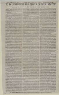 Abraham Lincoln papers: Series 1. General Correspondence. 1833-1916: Shade of Washington No 1, Saturday, August 17, 1850 (Printed Article on Slavery)