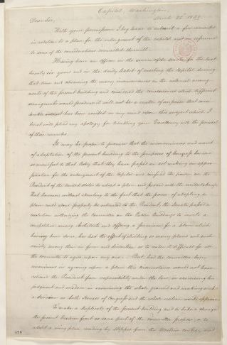 Abraham Lincoln papers: Series 1. General Correspondence. 1833-1916: W. Hickey to Millard Fillmore, Saturday, March 22, 1851 (Enlargement of U. S. Capitol)