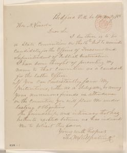 Abraham Lincoln papers: Series 1. General Correspondence. 1833-1916: Thomas M. Killpatrick to Abraham Lincoln, Wednesday, June 02, 1858 (Solicitation)