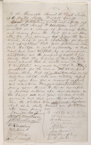 Abraham Lincoln papers: Series 1. General Correspondence. 1833-1916: Danville Illinois Citizens to Samuel H. Treat, Thursday, June 03, 1858 (Petition)