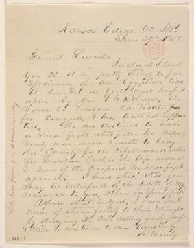 Abraham Lincoln papers: Series 1. General Correspondence. 1833-1916: Robert Moseley to Abraham Lincoln, Wednesday, June 02, 1858 (Senate)