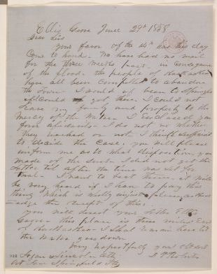 Abraham Lincoln papers: Series 1. General Correspondence. 1833-1916: D. P. Roberts to Logan & Lincoln, Tuesday, June 29, 1858 (Legal)