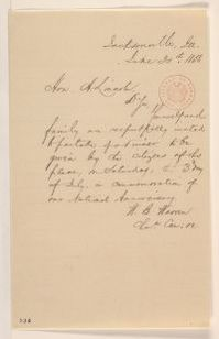 Abraham Lincoln papers: Series 1. General Correspondence. 1833-1916: William B. Warren to Abraham Lincoln, Wednesday, June 30, 1858 (Invitation)