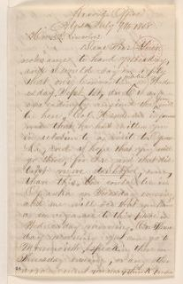 Abraham Lincoln papers: Series 1. General Correspondence. 1833-1916: James H. Reed to Abraham Lincoln, Friday, July 09, 1858 (Invitation)