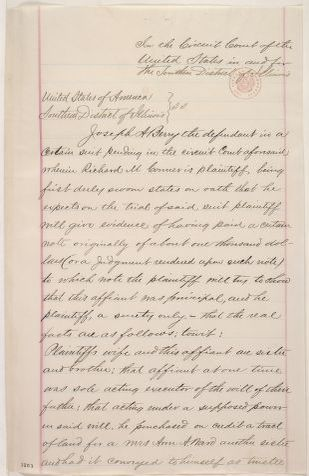 Abraham Lincoln papers: Series 1. General Correspondence. 1833-1916: Joseph A. Berry, Thursday, January 05, 1860 (Affidavit)
