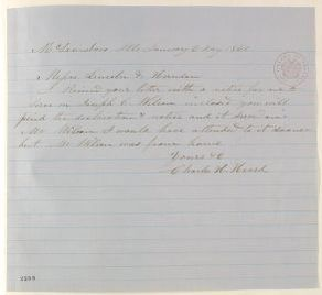 Abraham Lincoln papers: Series 1. General Correspondence. 1833-1916: Charles H. Heard to Lincoln & Herndon, Friday, January 06, 1860