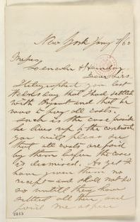Abraham Lincoln papers: Series 1. General Correspondence. 1833-1916: Thomas A. Howland to Lincoln & Herndon, Saturday, January 07, 1860 (Report on case)