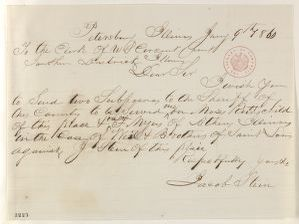 Abraham Lincoln papers: Series 1. General Correspondence. 1833-1916: Jacob Stein to Clerk of U. S. Circuit Court, Monday, January 09, 1860