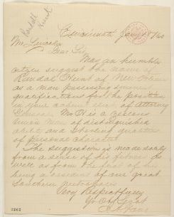 Abraham Lincoln papers: Series 1. General Correspondence. 1833-1916: J. A. Gano to Abraham Lincoln, Friday, January 18, 1861 (Cabinet recommendations)