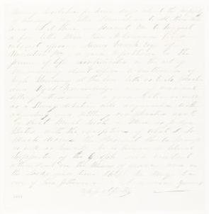 Abraham Lincoln papers: Series 1. General Correspondence. 1833-1916: Unknown to Abraham Lincoln, Tuesday, January 01, 1861 (Fragment)