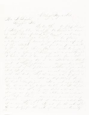 Abraham Lincoln papers: Series 1. General Correspondence. 1833-1916: D. M. Brook to Abraham Lincoln, Tuesday, January 01, 1861 (Cameron)