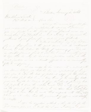 Abraham Lincoln papers: Series 1. General Correspondence. 1833-1916: George P. Burnham to Abraham Lincoln, Wednesday, January 02, 1861 (Recommendation for Gov. Banks)