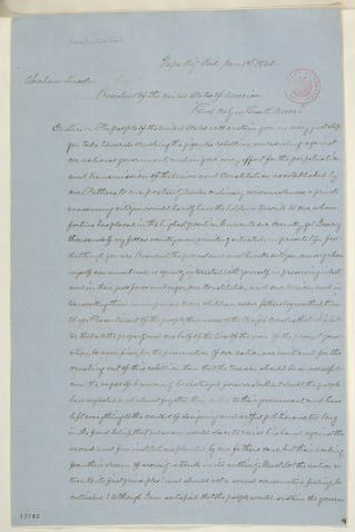 Abraham Lincoln papers: Series 1. General Correspondence. 1833-1916: Henry A. Gaston to Abraham Lincoln, Wednesday, January 01, 1862 (Political affairs and Order of American Freemen)