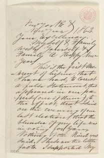 Abraham Lincoln papers: Series 1. General Correspondence. 1833-1916: Chauncey Shaffer to Abraham Lincoln, Wednesday, January 01, 1862 (Political affairs)