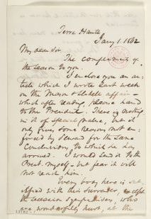Abraham Lincoln papers: Series 1. General Correspondence. 1833-1916: Richard W. Thompson to Unknown, Wednesday, January 01, 1862 (Sends article on Trent Affair)
