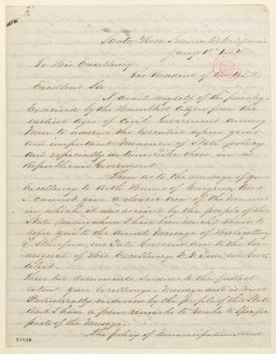Abraham Lincoln papers: Series 1. General Correspondence. 1833-1916: Otho Hinton to Abraham Lincoln, Friday, January 01, 1864 (Praise for Lincoln's Annual Message)
