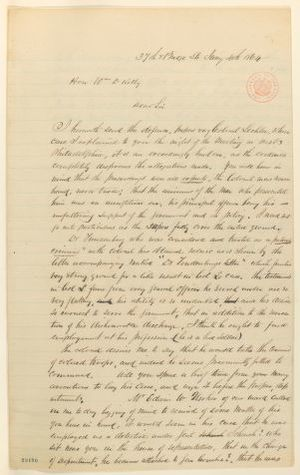 Abraham Lincoln papers: Series 1. General Correspondence. 1833-1916: John O'Byrne to William D. Kelley, Monday, January 04, 1864 (Case of Colonel Lechler)