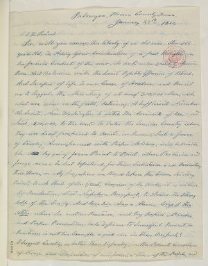 Abraham Lincoln papers: Series 1. General Correspondence. 1833-1916: S. J. Scott to Abraham Lincoln, Friday, January 29, 1864 (Military advice)