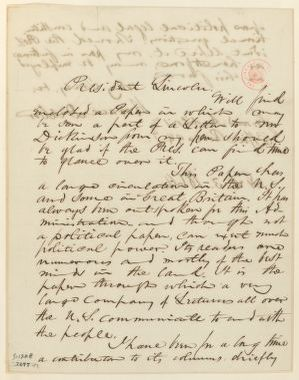 Abraham Lincoln papers: Series 1. General Correspondence. 1833-1916: Horace Dresser to Abraham Lincoln, Wednesday, February 03, 1864 (Sends clipping)