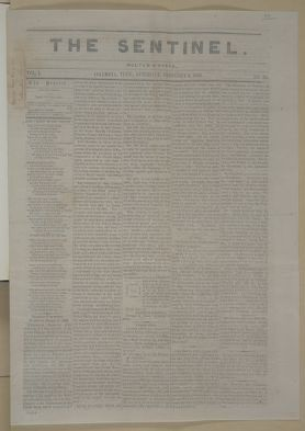 Abraham Lincoln papers: Series 1. General Correspondence. 1833-1916: Columbia Tennessee Sentinel, Saturday, February 06, 1864 (Newspaper)
