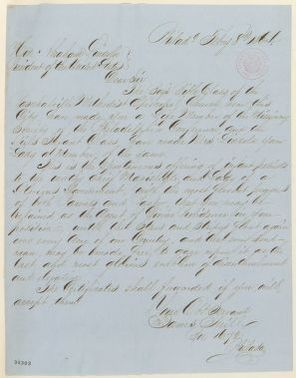 Abraham Lincoln papers: Series 1. General Correspondence. 1833-1916: James Neill to Abraham Lincoln, Monday, February 08, 1864 (Life membership in missionary society)