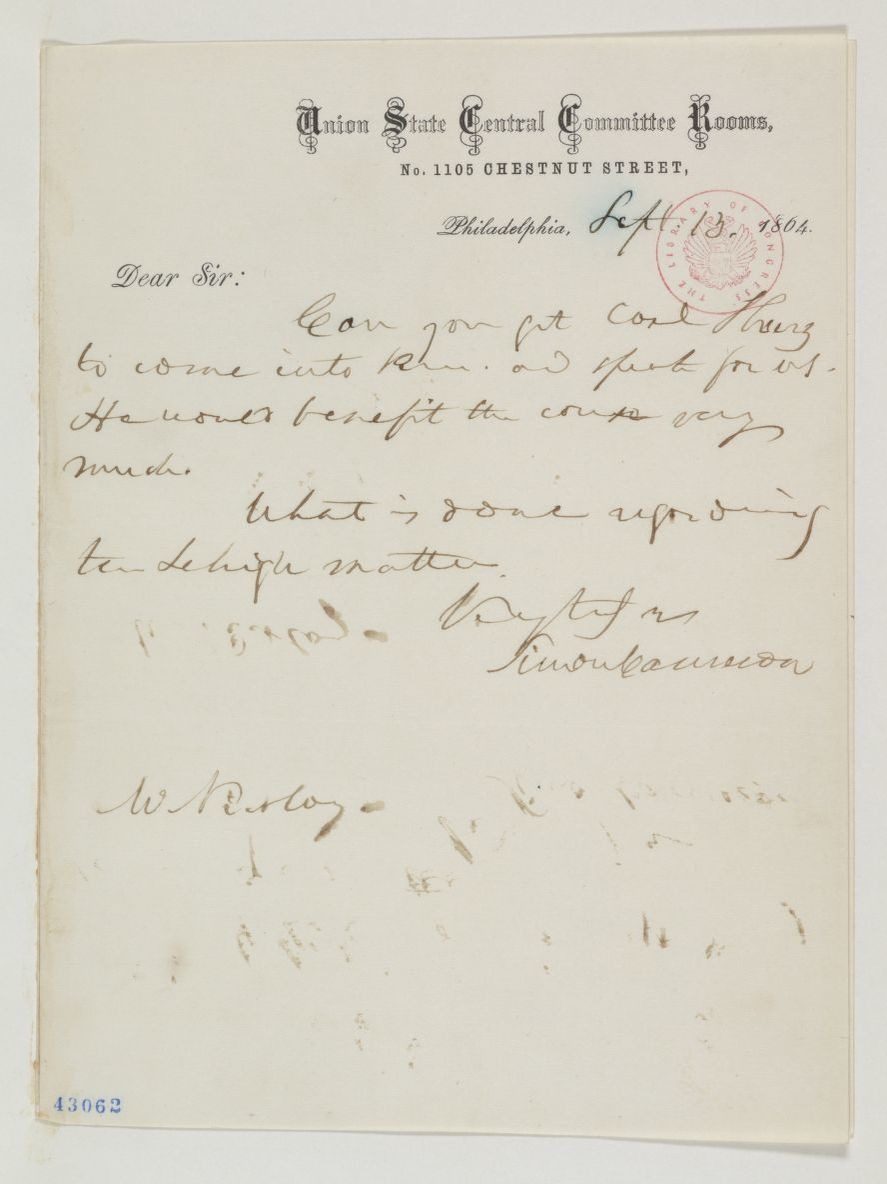 Abraham Lincoln Papers at the Library of Congress, Available