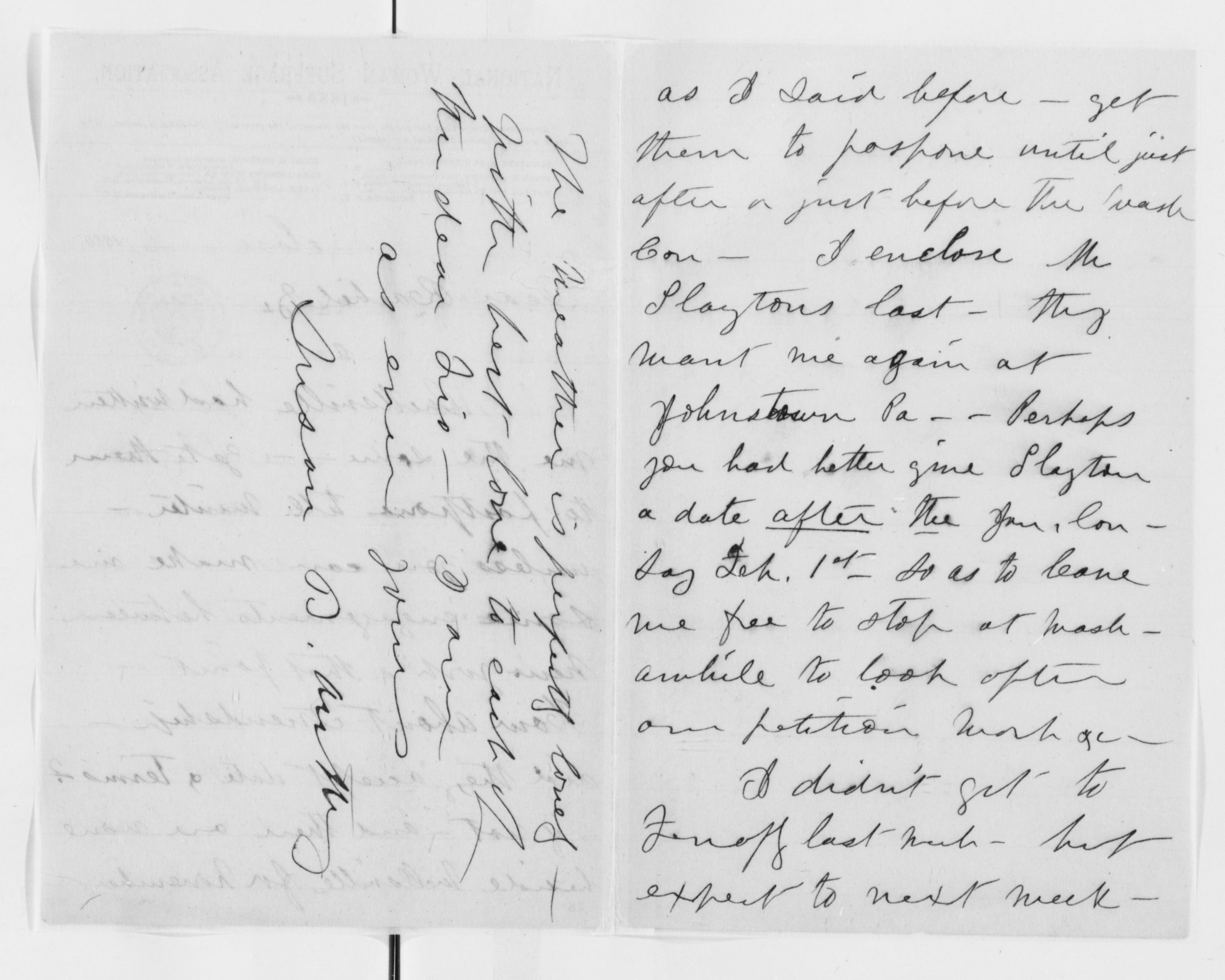 Image 62 of Susan B  Anthony Papers: Correspondence, 1846