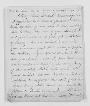 Susan B. Anthony Papers: Speeches and Writings, 1848-1895; 1862 , Speech during Wadsworth Campaign (emancipation)