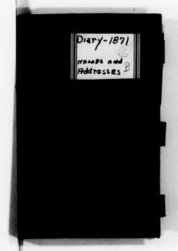 Clara Barton Papers: Diaries and Journals: 1871, Feb.-Dec.