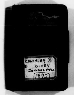 Clara Barton Papers: Diaries and Journals: 1872, Jan.-Dec.