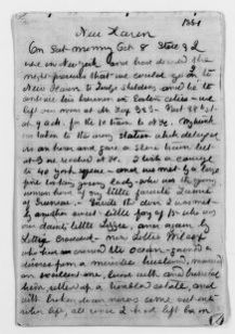 Clara Barton Papers: Diaries and Journals: 1881, Oct. 8-Nov. 1