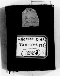 Clara Barton Papers: Diaries and Journals: 1883, Jan.-Nov.