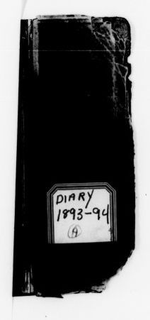 Clara Barton Papers: Diaries and Journals: 1893, May-1894, May
