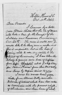 Clara Barton Papers: Family Papers: Barton, Ira M. (cousin), 1863-1865, 1904