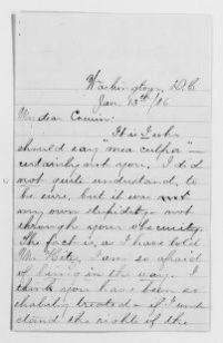 Clara Barton Papers: Family Papers: Barton, Mary (cousin), 1886, undated