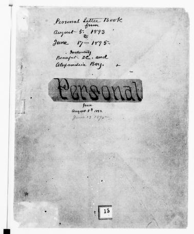 Clara Barton Papers: Letterbooks, 1876-1911; 1893, Aug.-1895, June; pp. 1-339