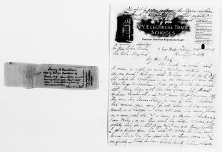 Clara Barton Papers: General Correspondence, 1838-1912; Bertram, Lucy A., 1908-1910